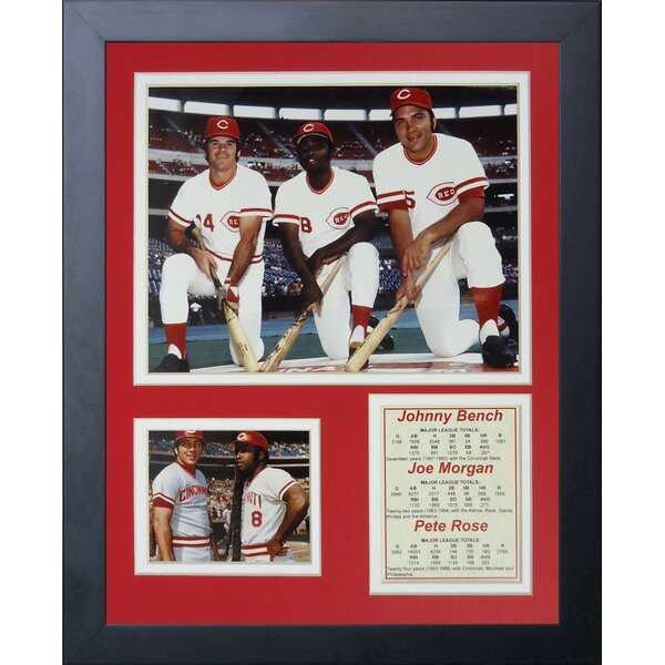 Johnny Bench, Joe Morgan and Pete Rose Framed Memorabilia by Legends Never Die