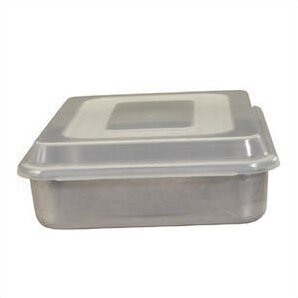 Natural Commercial Square Cake Pan with Lid by Nordic Ware