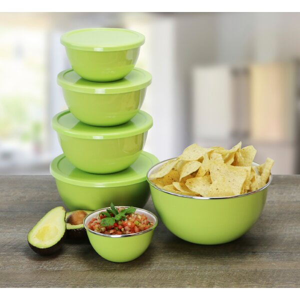 Calypso Basics 12 Piece Bowl Set in Lime by Reston Lloyd