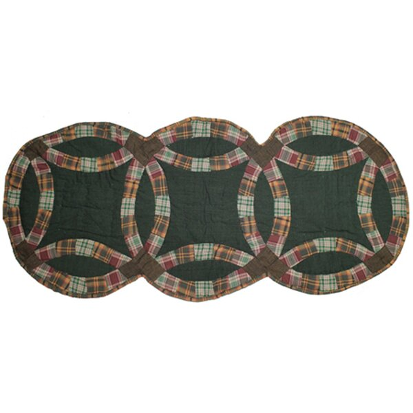Green Double Wedding Ring Table Runner by Patch Magic
