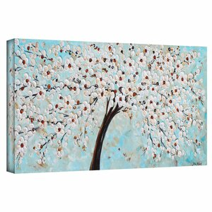 'Blossoms' Painting Print on Wrapped Canvas by Bloomsbury Market