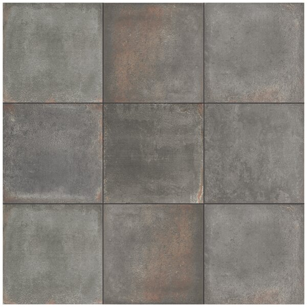 Relic 8.75 x 8.75 Porcelain Field Tile in Notte by EliteTile