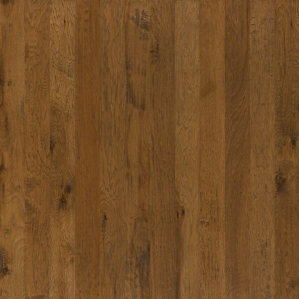 5 Engineered Hickory Hardwood Flooring in Toasted Caramel by Welles Hardwood