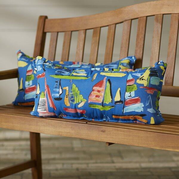 Wallon Rectangular Indoor/Outdoor Lumbar Pillow (Set of 2) by Longshore Tides