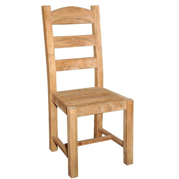 Perine Reclaimed Teak Patio Dining Chair by Loon Peak