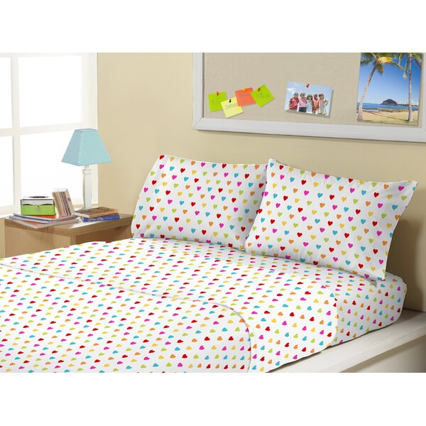 Tennyson 4 Piece Queen of Hearts Sheet Set by Zoomie Kids