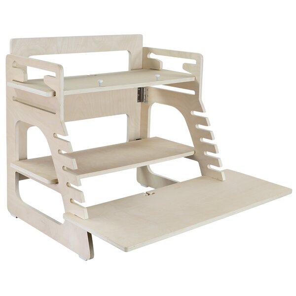 Marnie Adjustable Wood Standing Desk Converter by Symple Stuff