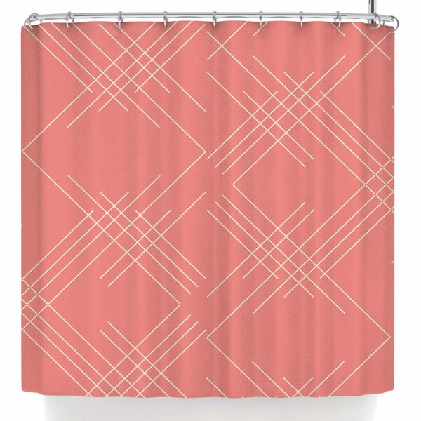 Famenxt All A Blaze Abstract Illustration Shower Curtain by East Urban Home