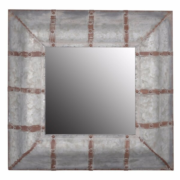 Chamblin Unadorned Rustic Accent Mirror by Gracie Oaks