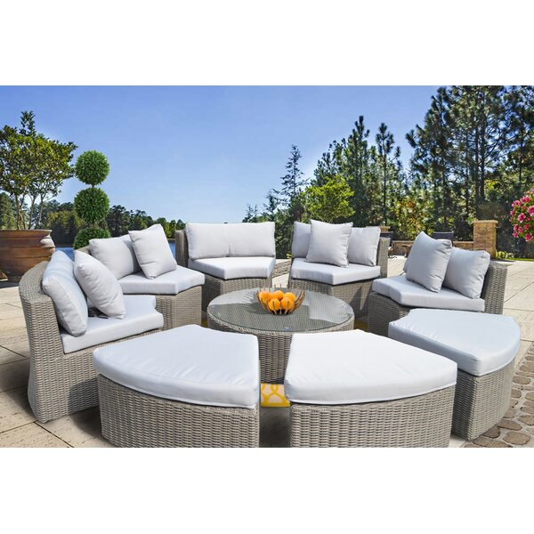Gregoria 9 Piece Sectional Set with Cushions by Orren Ellis