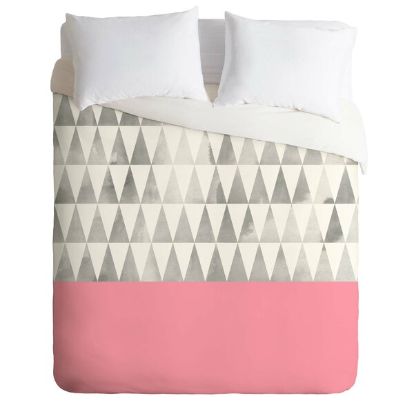 Silver Triangles Duvet Cover Set by East Urban Home