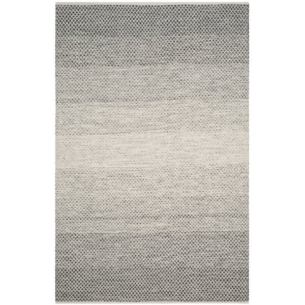 Figuig Hand-Woven Black/Ivory Area Rug by Bungalow Rose