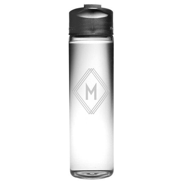 Deco Diamond Monogram Travel Carafe by Susquehanna Glass