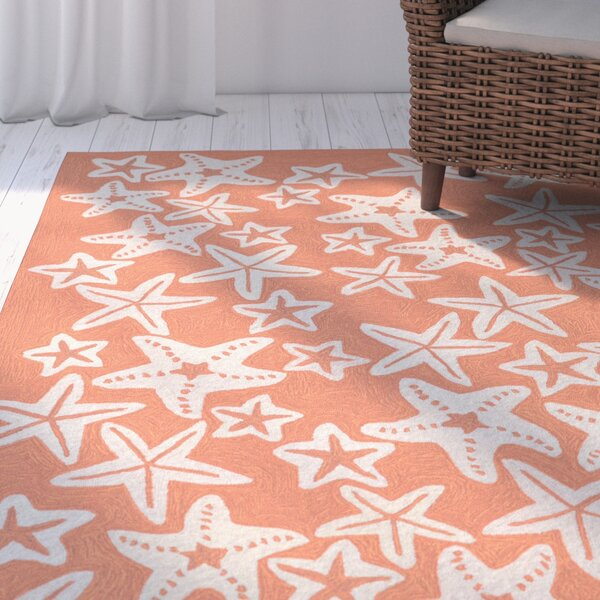 Claycomb Hand-Tufted Coral Indoor/Outdoor Area Rug by Highland Dunes