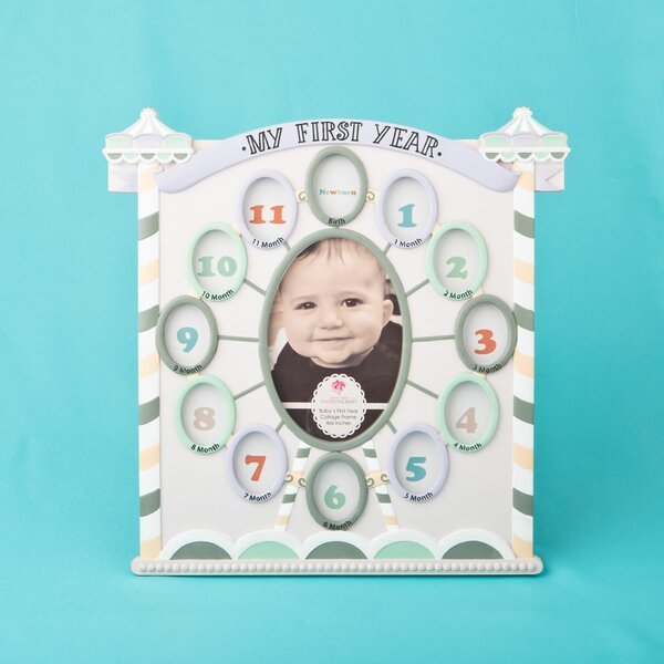 My First Year Collage Circus Tent Baby Picture Frame by Fashion Craft