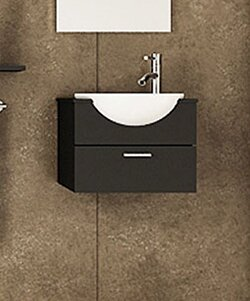 Jwh Living Mira 21 Wall Mounted Single Bathroom Vanity Set
