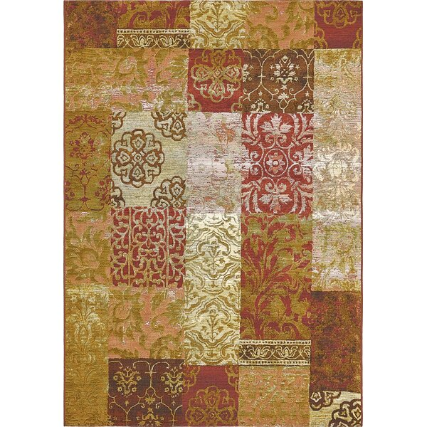 Jamie Gold Indoor/Outdoor Area Rug by Bloomsbury Market