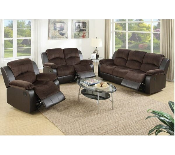 Kate Reclining 3 Piece Living Room Set by A&J Homes Studio
