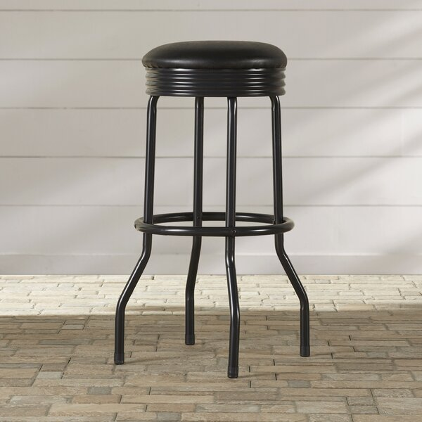 32 Swivel Patio Bar Stool with Cushion by Symple Stuff