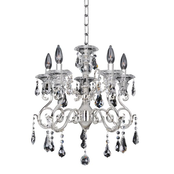 Haydn 5-Light Candle Style Classic / Traditional Chandelier by Allegri by Kalco Lighting Allegri by Kalco Lighting