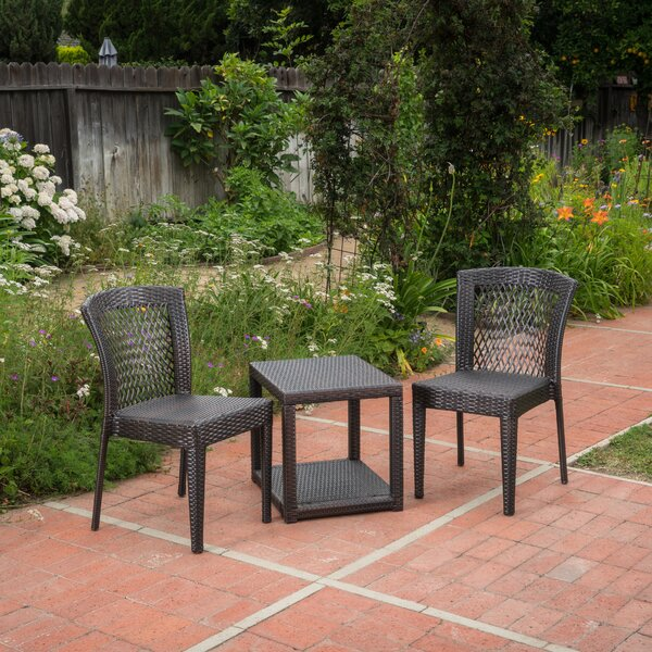 Wozniak 3 Piece Rattan Seating Group by Wrought Studio