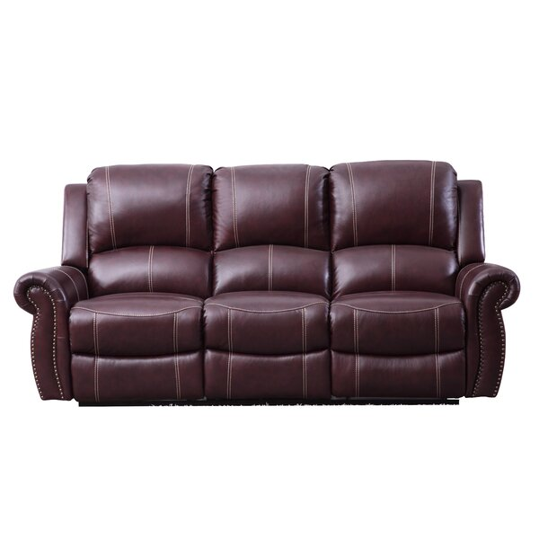 Lopp Leather Reclining Sofa by Red Barrel Studio