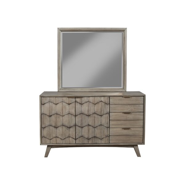 Lola 3 Drawer Combo Dresser with Mirror by Foundstone