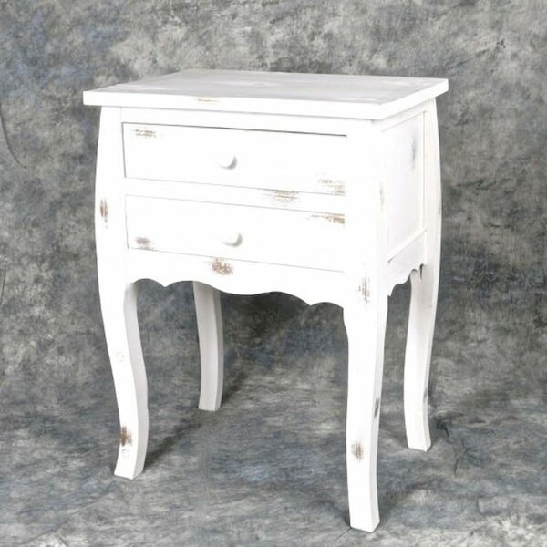 Carrero Wooden 2 Drawer Night Stand by Ophelia & Co.