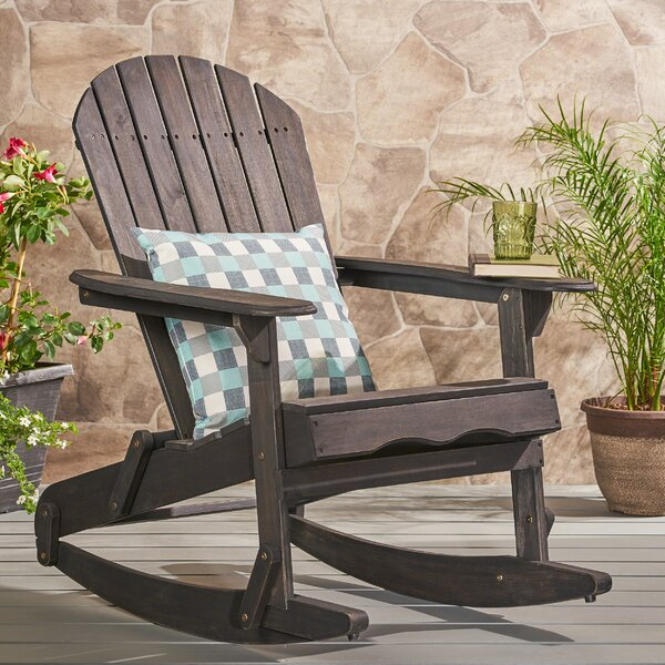 Stamm Solid Wood Rocking Adirondack Chair by Millwood Pines Millwood Pines