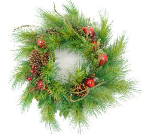 24 Apple Berry and Pine Cone Artificial Christmas Garland by Darice