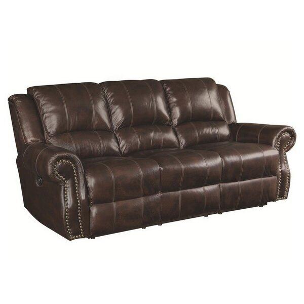 Algona Leather Reclining Sofa by Canora Grey