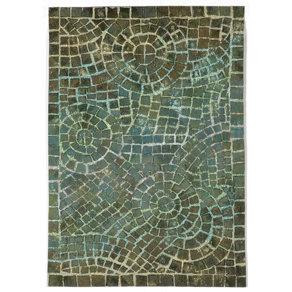 Alline Arch Tile Blue Area Rug by Bloomsbury Market