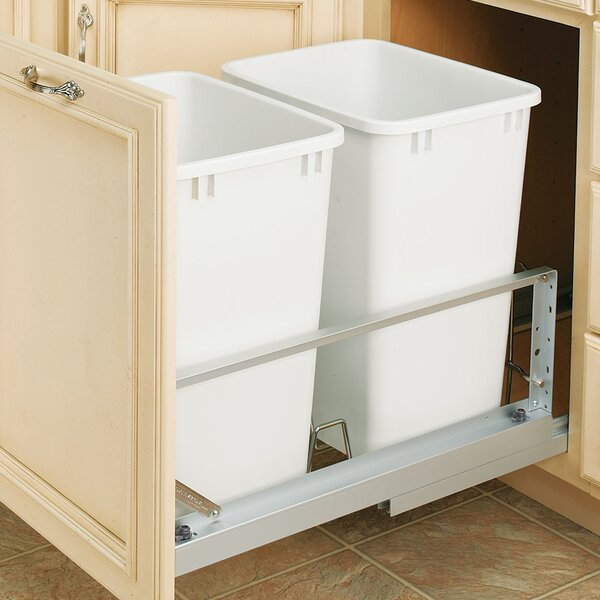 19.25 Double Pull out Trash Can by Rev-A-Shelf