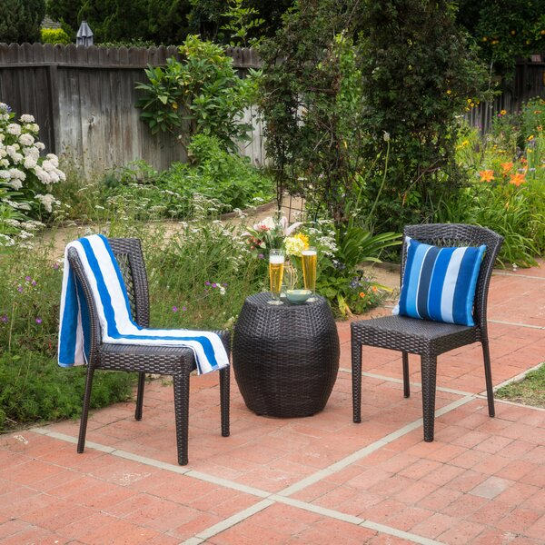 Tracie 3 Piece Rattan Seating Group by Winston Porter