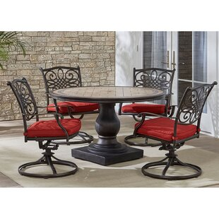 Botelho 5 Piece Dining Set with Cushions By Three Posts