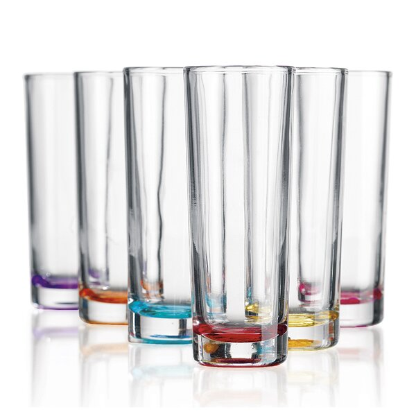 6 Piece 4 oz. Glass Shot Glass Set by Home Essentials and Beyond