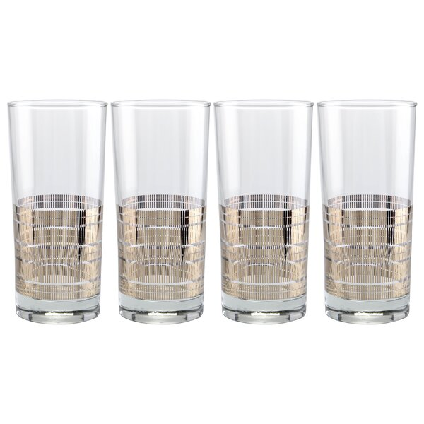 Angeles Striped 15 Oz. Highball Glass (Set of 4) by Langley Street