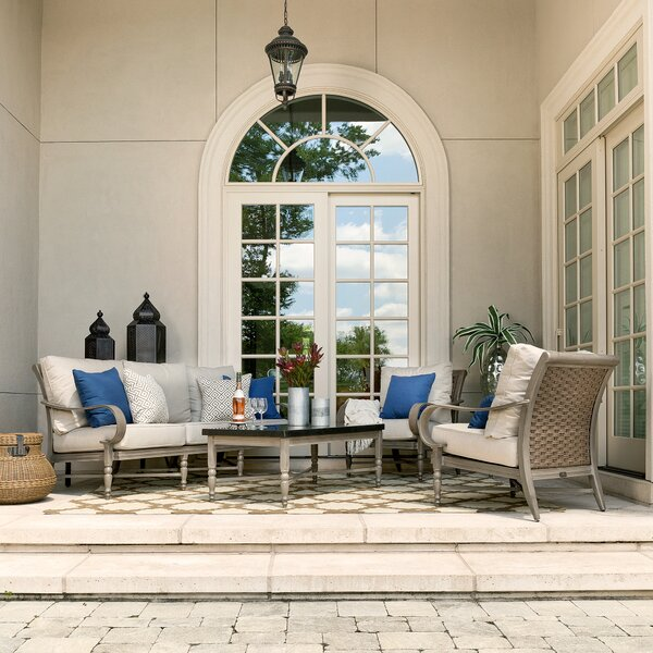 Beckwith 4 Piece Sofa Seating Group with Cushions by Canora Grey