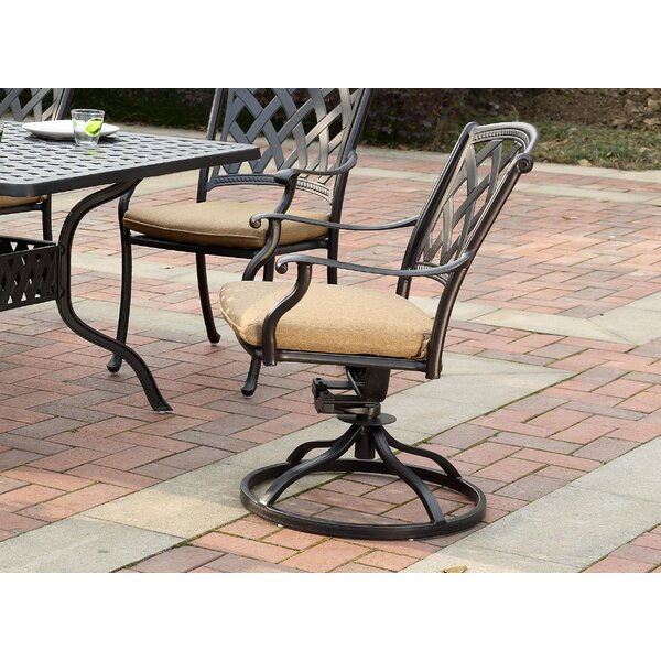 Campton Swivel Patio Rocking Chair with Cushions (Set of 4) by Fleur De Lis Living