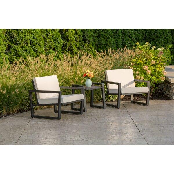 Vero 3 Piece Sunbrella Conversation Set with Cushions by Elan Furniture
