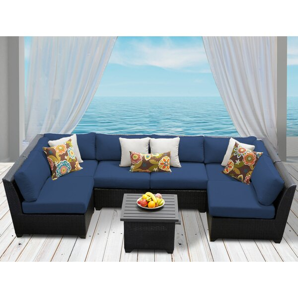 Tegan 7 Piece Sectional Seating Group with Cushions by Sol 72 Outdoor
