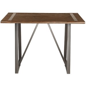 Hilal Industrial Live Edge Pub Table by Gracie Oaks