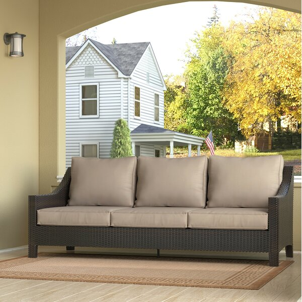 Tahoe Outdoor Wicker Patio Sofa with Cushions by Serta at Home