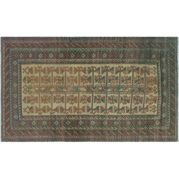 One-Of-A-Kind Brook Hand-Knotted Wool Green Area Rug by Isabelline