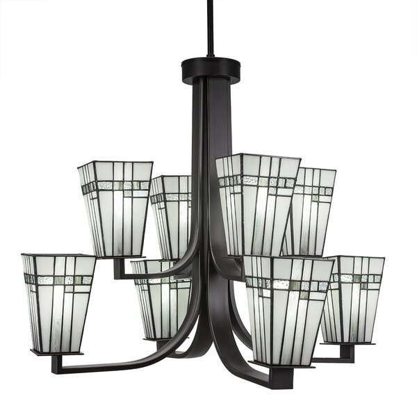 Eurig 8-Light Shaded Tiered Chandelier By Loon Peak