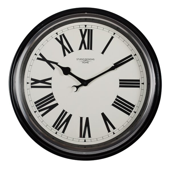 Roman Traditional Metal Wall Clock by Studio Designs HOME