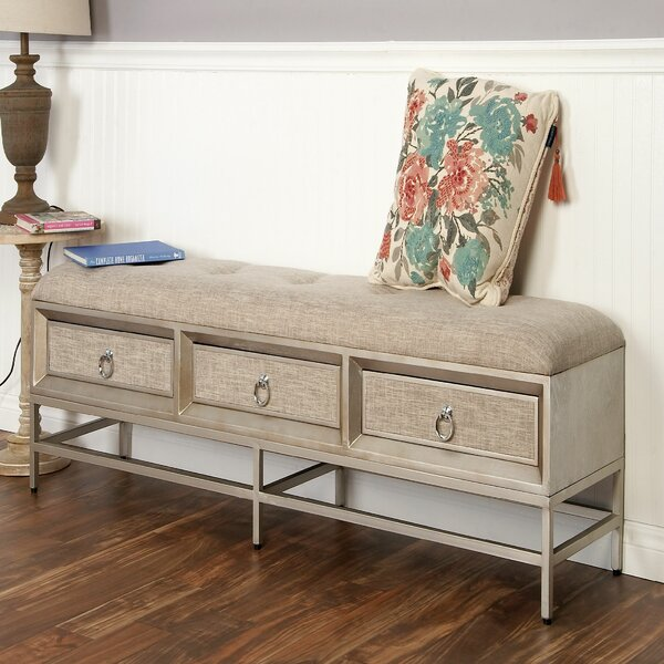 Metal and Wood Storage Bench by Cole & Grey