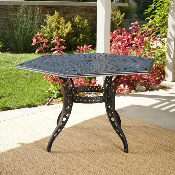 Fuller Aluminum Dining Table by Astoria Grand