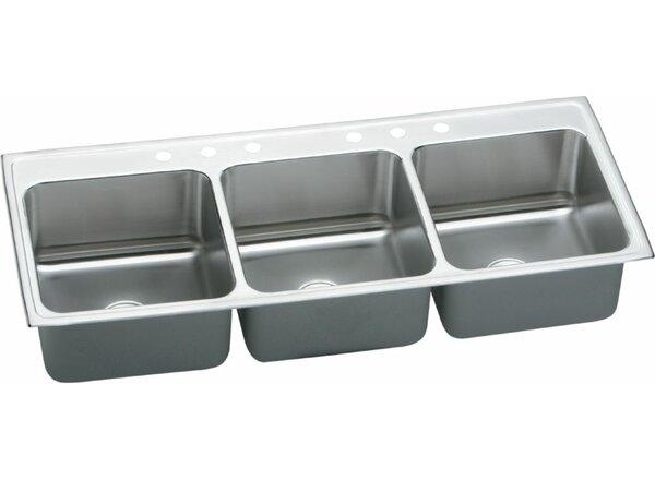 Lustertone 54 L x 22 W Triple Bowl Kitchen Sink by Elkay