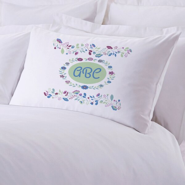 Personalized Sleeping Floral Pillow Case by Monogramonline Inc.